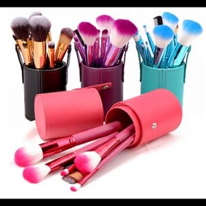 Other - 🔥PURPLE 🔥Makeup brush set with lcylinder purple